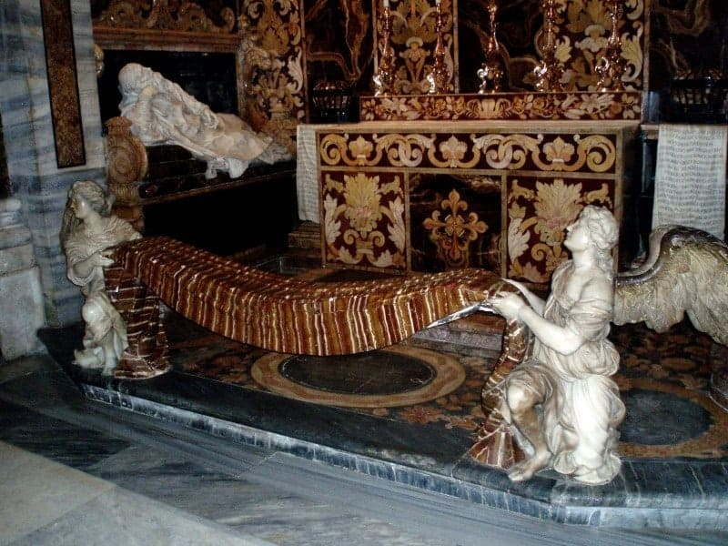 Out of this world alabaster altar rail in the church of San Girolamo della Carita, Rome