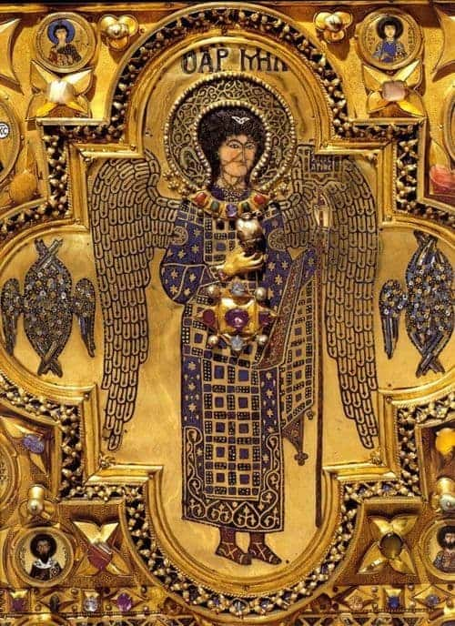 Saint Michael the Archangel, from the pala d'oro in the Basilica of Saint Mark in Venice