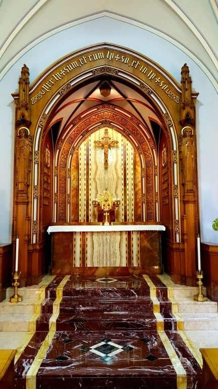 Main altar in Adoration Chapel.