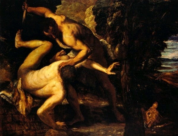 Tintoretto's Cain Killing Abel